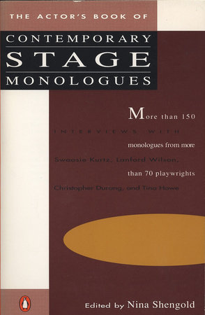 The Actor's Book of Contemporary Stage Monologues