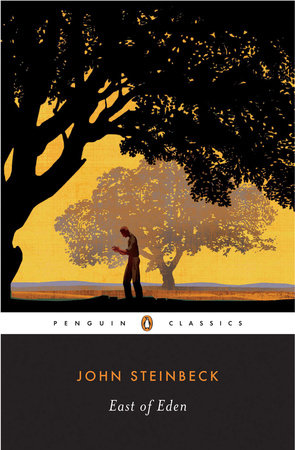 The cover of the book East of Eden