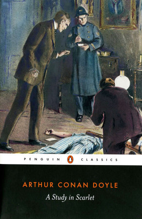 The cover of the book A Study in Scarlet