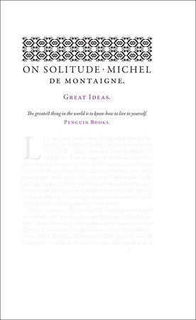 On Solitude by Michel de Montaigne