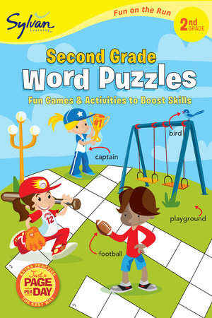 Second Grade Word Puzzles (Sylvan Fun on the Run Series) by Sylvan Learning