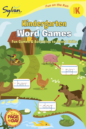 Kindergarten Word Games (Sylvan Fun on the Run Series) by Sylvan Learning