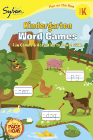 Kindergarten Word Games (Sylvan Fun on the Run Series)