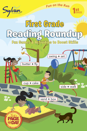 First Grade Reading Roundup (Sylvan Fun on the Run Series) by Sylvan Learning