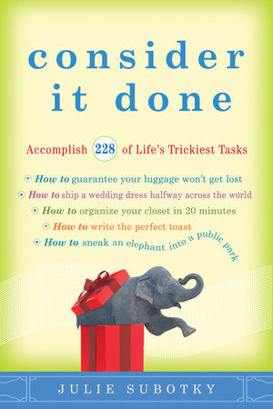 Consider It Done by Julie Subotky