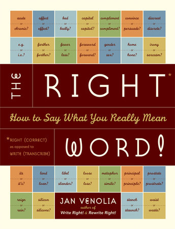 The Right Word! by Jan Venolia