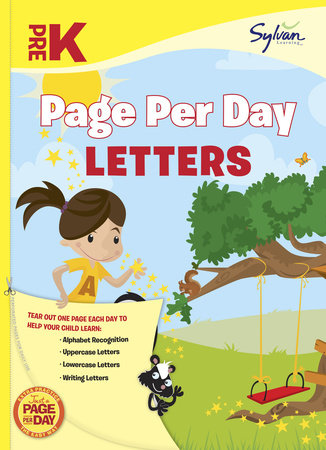 Pre-K Page Per Day: Letters by Sylvan Learning