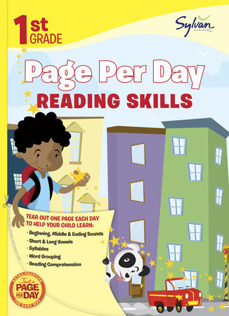 First Grade Page Per Day: Reading Skills by Sylvan Learning