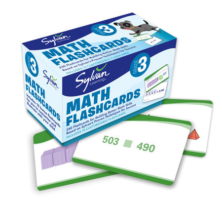 3rd Grade Math Flashcards by Sylvan Learning