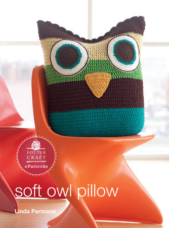 Soft Owl Pillow by Linda Permann