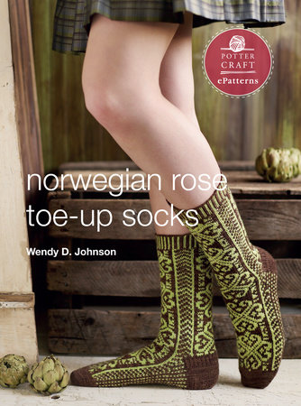Norwegian Rose Socks by Wendy D. Johnson