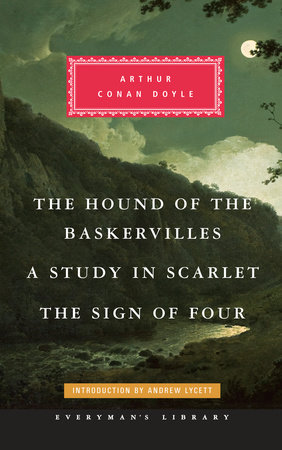 The cover of the book The Hound of the Baskervilles, A Study in Scarlet, The Sign of Four