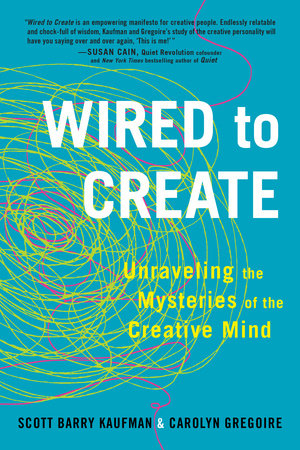 The cover of the book Wired to Create