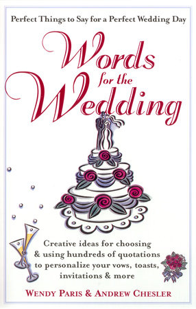 UC_Words for the Wedding by Wendy Paris and Andrew Chesler
