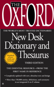The Oxford New Desk Dictionary and Thesaurus