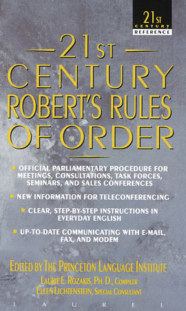 21st Century Robert's Rules of Order by Princeton Language Institute