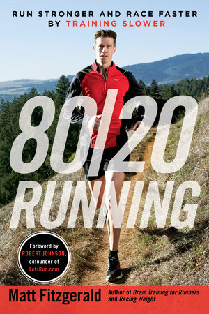 The cover of the book 80/20 Running