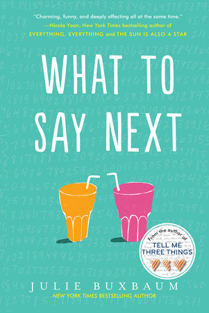 The cover of the book What to Say Next