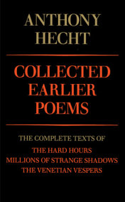 Collected Earlier Poems
