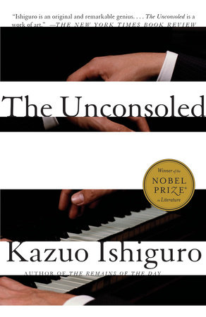 The cover of the book The Unconsoled