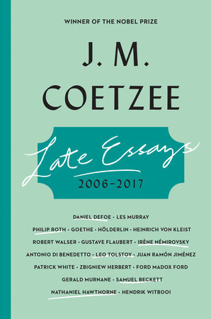 The cover of the book Late Essays