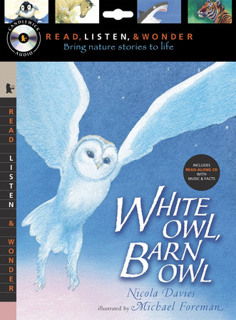 White Owl, Barn Owl with Audio, Peggable by Nicola Davies
