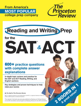 Reading and Writing Prep for the SAT & ACT by Princeton Review