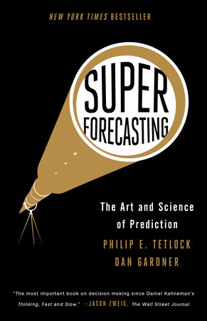 The cover of the book Superforecasting