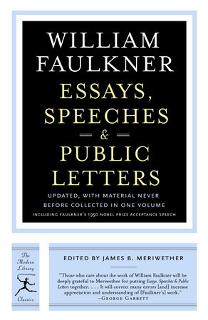 Essays, Speeches & Public Letters