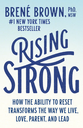 The cover of the book Rising Strong