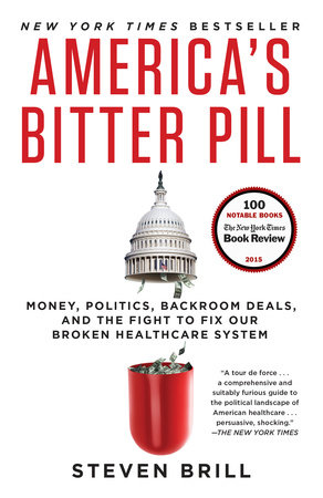 The cover of the book America's Bitter Pill