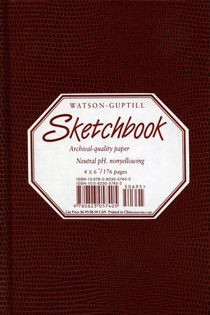 Small Sketchbook (Lizard, Burgundy) by Watson-Guptill