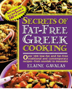Secrets of Fat-free Greek Cooking