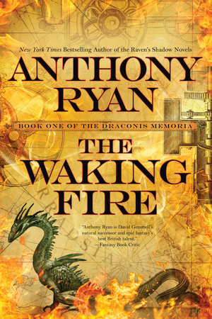 The cover of the book The Waking Fire