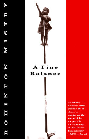 The cover of the book A Fine Balance
