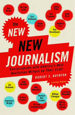 The cover of the book The New New Journalism