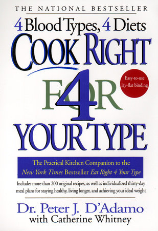 Cook Right 4 Your Type by Dr. Peter J. D'Adamo and Catherine Whitney