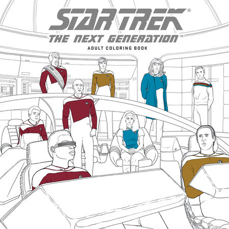 star trek the next generation adult coloring book by cbs