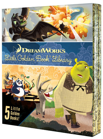 DreamWorks Little Golden Book Library 5 copy boxed set