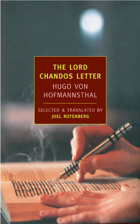 The Lord Chandos Letter by Hugo Von Hofmannsthal