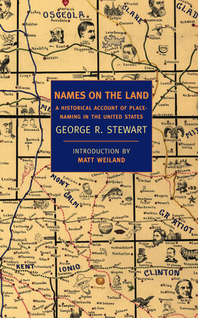 The cover of the book Names on the Land