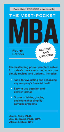 The Vest-Pocket MBA by Jae K. Shim, Joel G. Siegel and Allison I. Shim