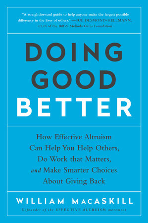 The cover of the book Doing Good Better