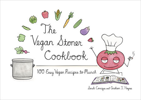 The Cover Of Book Vegan Stoner Cookbook