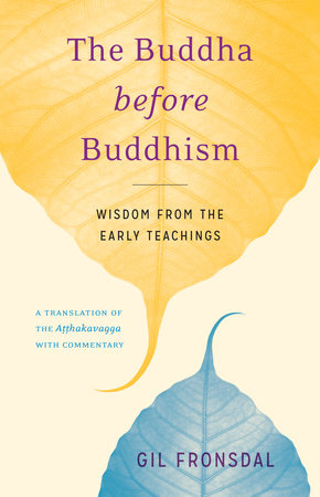 The cover of the book The Buddha before Buddhism