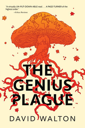 The cover of the book The Genius Plague