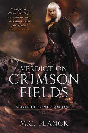The cover of the book Verdict on Crimson Fields