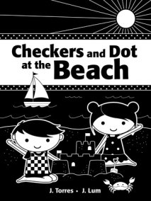 Checkers and Dot at the Beach