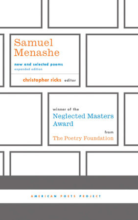 Samuel Menashe: New and Selected Poems