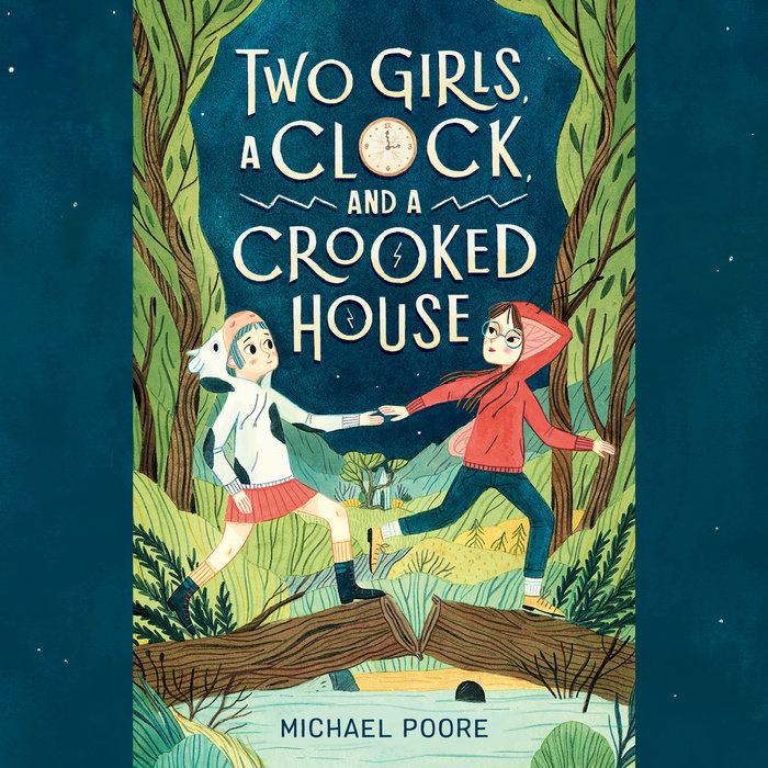 Two Girls, a Clock, and a Crooked House Cover